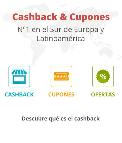 Bienvenido al cashback Nº 1 en España, Italia, Portugal y Latinoamérica