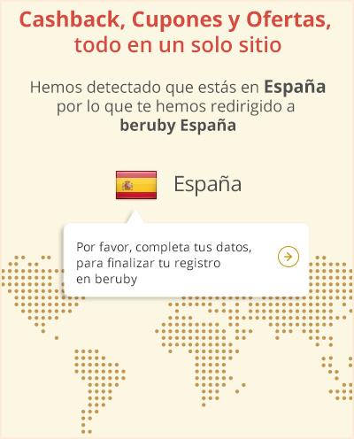 Cashback, Cupones y Ofertas, todo en un solo sitio. Hemos detectado que estás en España por lo que te hemos redirigido a beruby España.