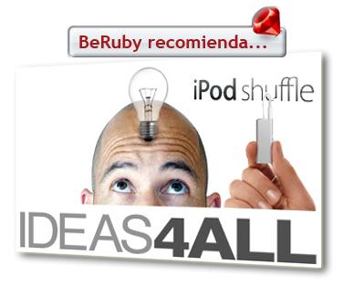 iPod Shuffle de Ideas4all para usuarios de BeRuby