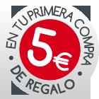5€ de regalo en tu primera compra antes del 31 de diciembre de 2014. Solo nuevos usuarios
