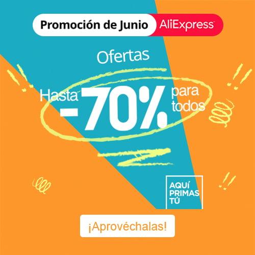 ¡Hasta 70% de descuento en AliExpress!
