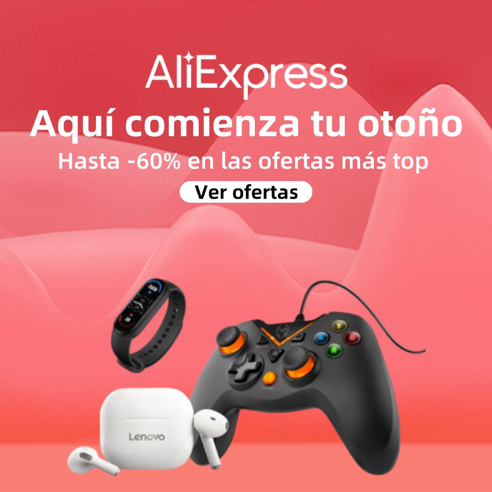 Hasta 60% de descuento en AliExpress.