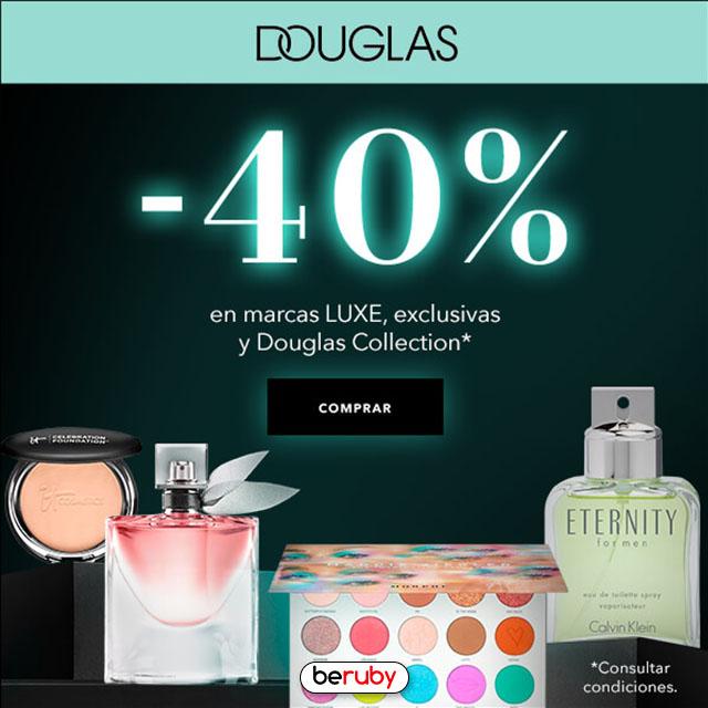 40% de descuento en Douglas Perfumerías