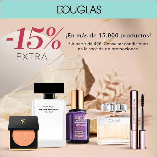 ¡15% de descuento EXTRA en Douglas!