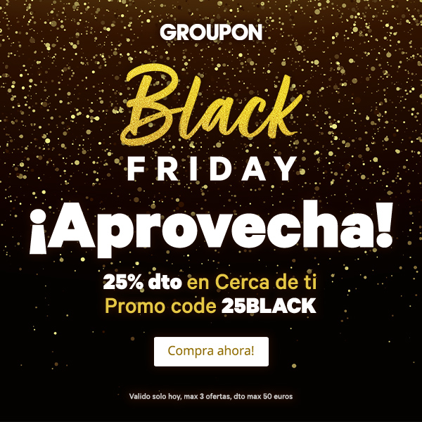 Groupon se une al Black Friday con increíbles ofertas
