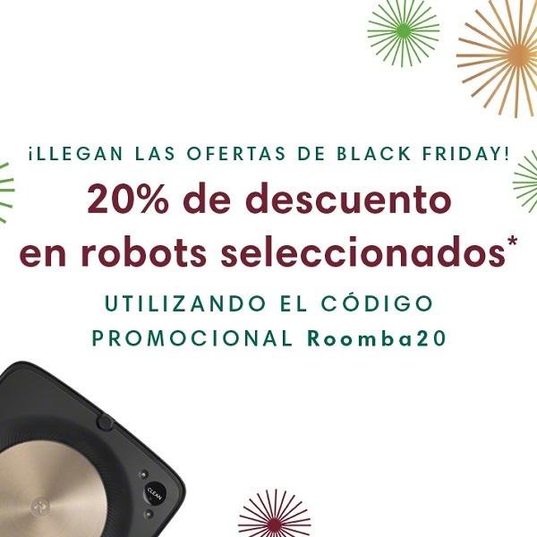 Disfruta de un 20% de descuento en iRobot
