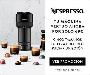 Tu máquina Vertuo de Nespresso