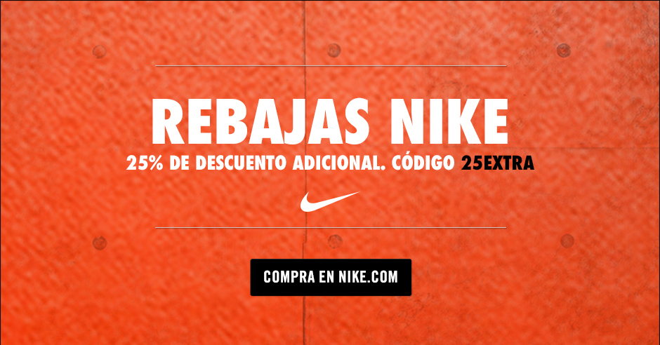 0e6f6cd5a0f85 Aprovecha y ahorra un 25% extra al descuento ya propio de los productos  rebajados en Nike gracias al nuestro código de descuento 25EXTRA.