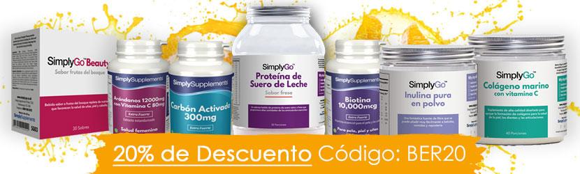 ¡Ahorra un 20% en tus compras en Simply Supplements!
