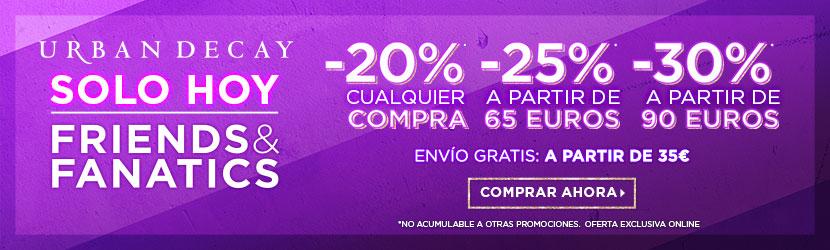 [Actualización] Amplían oferta al domingo 7-4-19: ¡Hasta un 30% de descuento + 11% cashback en Urban Decay!.